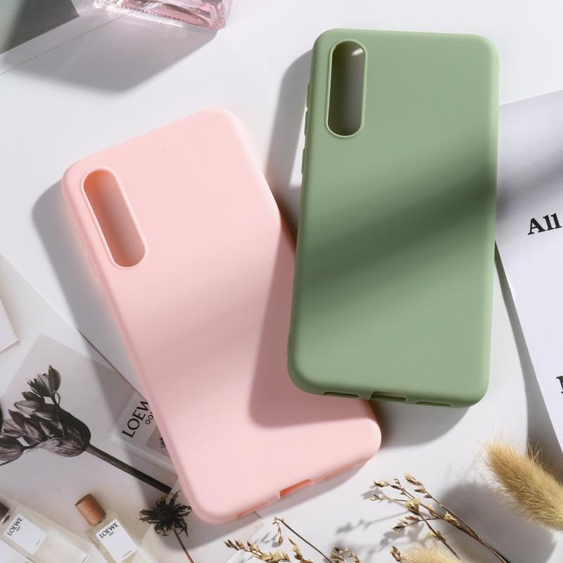 Funda de Silicona Color Liso Caramelo Sólido para Xiaomi mi 9 mi 9se Amarillo Delgado tpu funda Trasera para Xiaomi 9 xio mi 9se