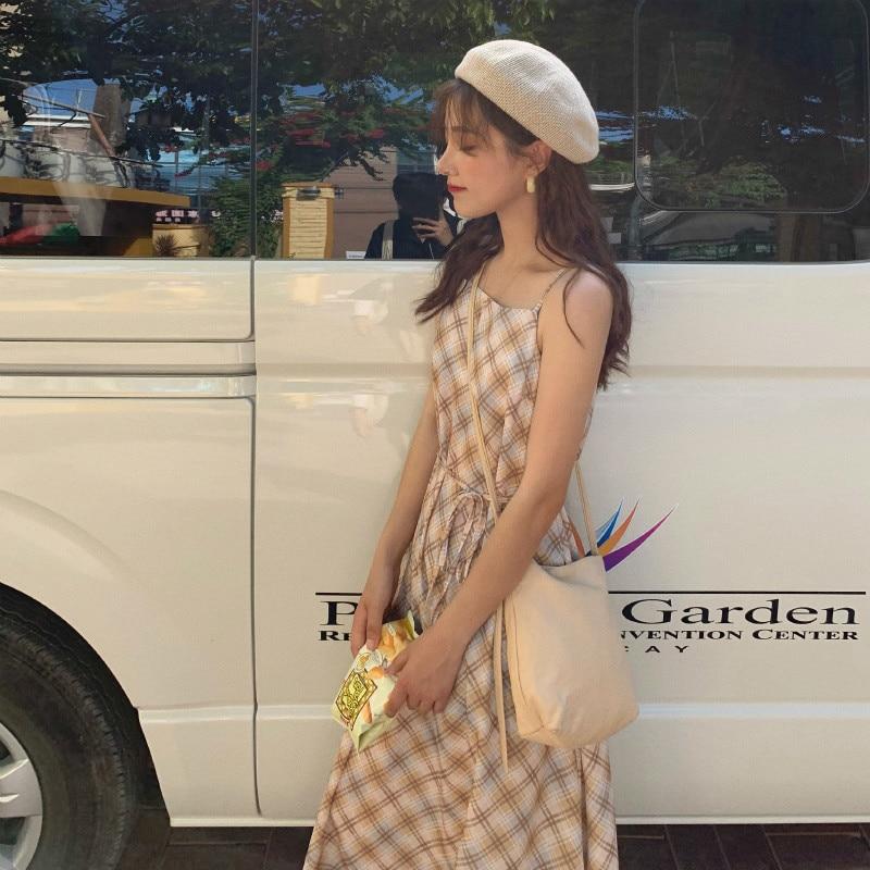 فستان نسائي صيفي طويل منقوش ماركة SHZQ فستان نسائي بحمالات رفيعة وذيل واسع من Vestidos بحزام رداء نسائي غير رسمي Sukienki Jurk