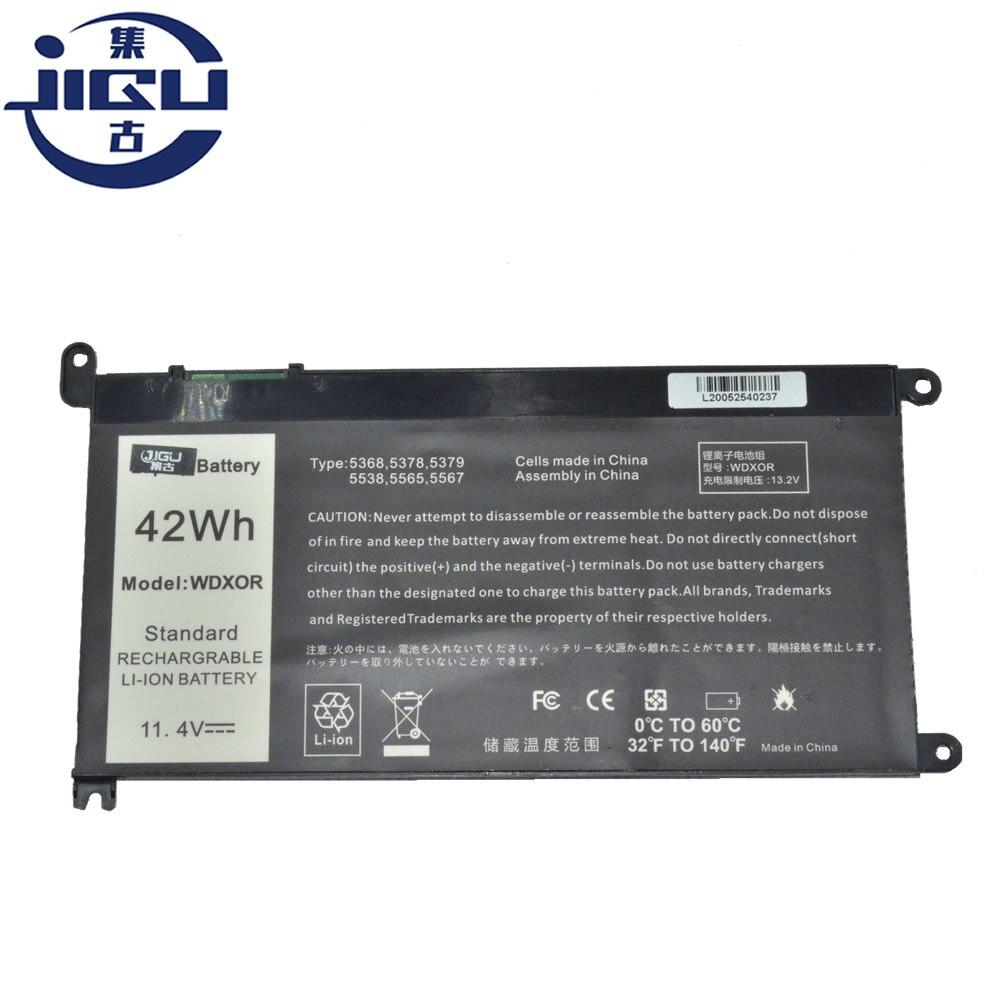 JIGU بطارية كمبيوتر محمول FW8KR P62F 1VX1H P26T P62F001 3CRH3 P69G 9W9MX لديل انسبايرون 13MF-2505T 15-7570 17-5770 14-7460