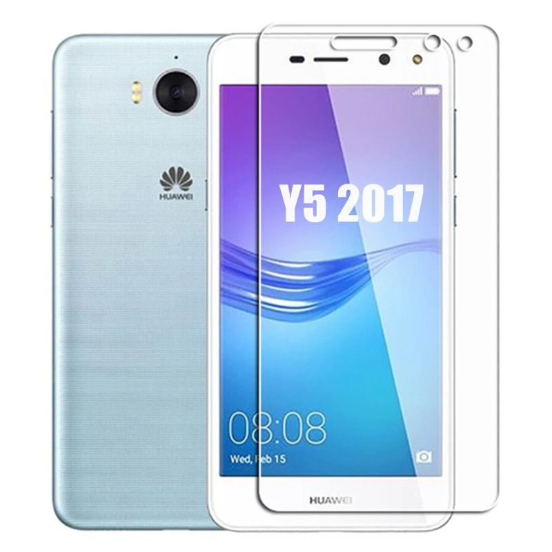 2pcs For Huawei y5 2017 MYA-L02 MYA-L03 MYA-L22 Safety Tempered Glass Screen Protector on Y5 2017 y52017 huawey Protective Glass