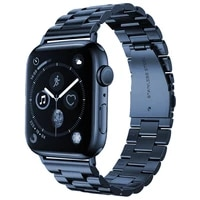 wristband for apple watch se tape series 6 5 4 40mm 44mm stainless steel business belt for iwatch 3 38mm 42mm sea blue
