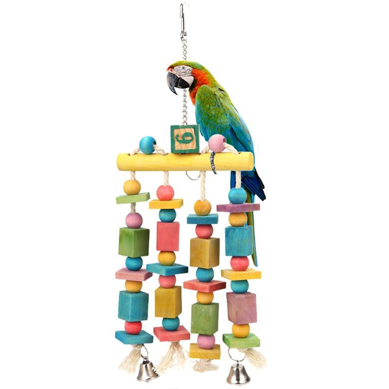Colorful Bird Toys For Parrot Chewing Cockatiel African Grey Birds