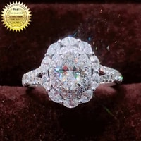 18k goldr ring 1 7ct d vvs moissanite ring engagementwedding jewellery with certificate 0050