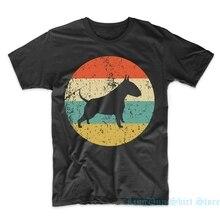Bull Terrier Hemd-Vintage Retro Bull Terrier Herren T-Shirt-Hund Icon Hemd männer frauen t shirt 100% baumwolle tops tees