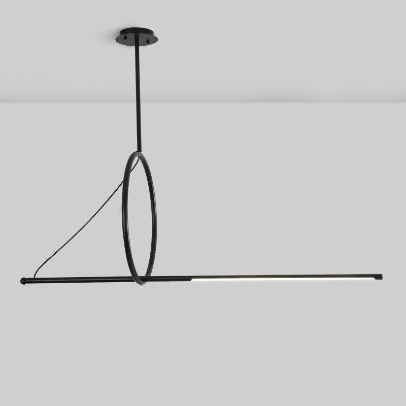 Modern Minimalist Decor Led Pendant Lights Black Living Room Decoration Dining Kitchen Home Industrial Interior Lighting Fixture