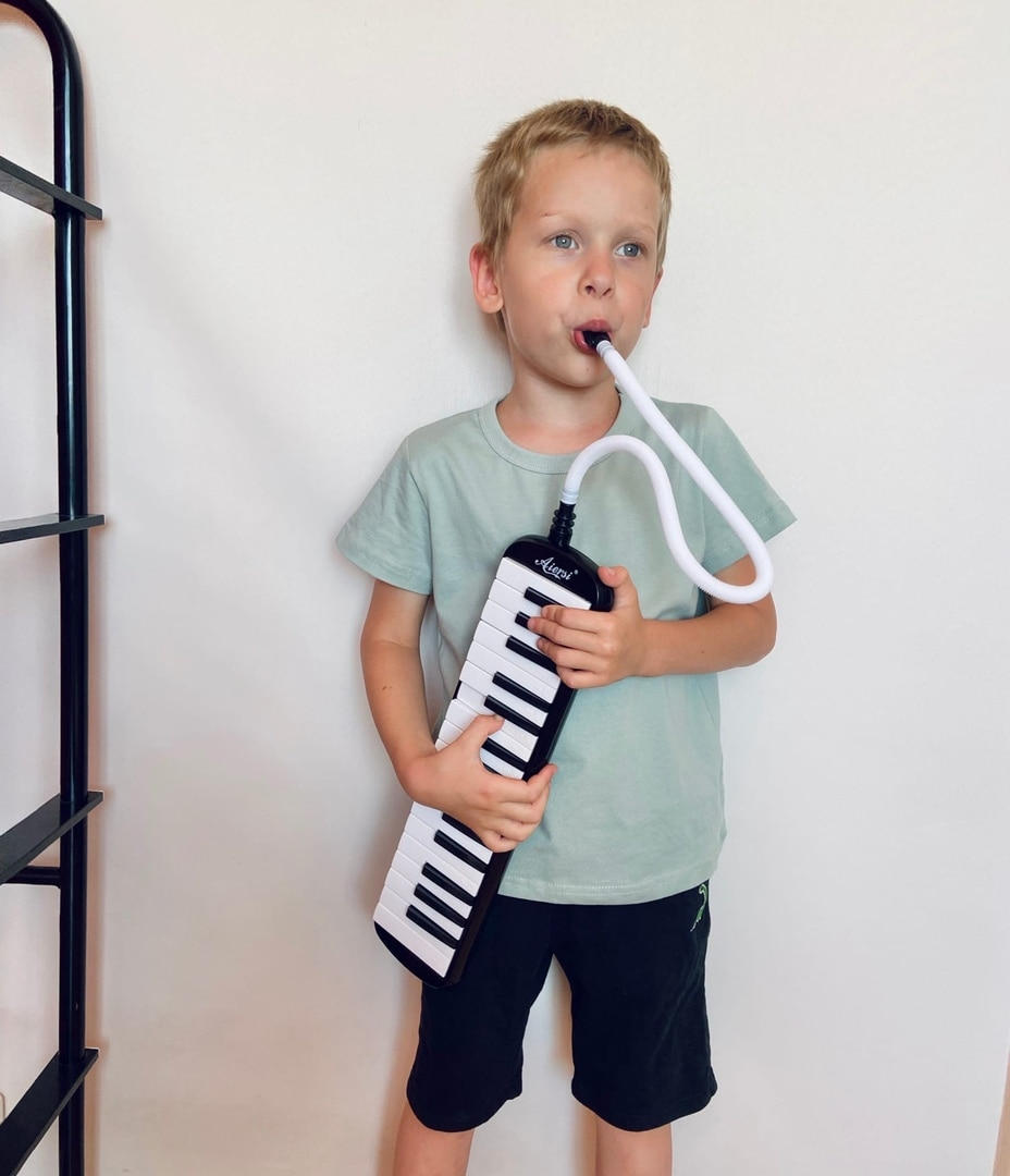 Aiersi Brand 32 Key Melodica Piano Melodion Keyboard Education Finger Musical Instrument Gift With Carrying Bag Strap Mouthpiece enlarge