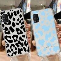 leopard print phone case transparent for samsung note a 7 8 9 10 20 50 51 71 90 20 11 81 e lite ultra pro