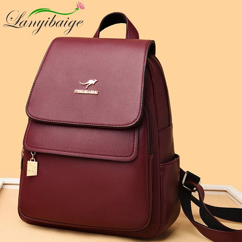 حقيبة ظهر نسائية مصممة ، حقيبة سفر ذات سعة كبيرة ، مدرسة شباب عصرية ، جودة عالية ، 2020