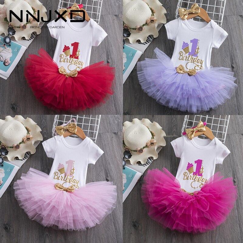 Baby Kleid Ersten Geburtstag Mädchen Party Für Neugeborene Kleidung Outfit Kurzarm Prinzessin Taufe Taufe Kind Kleidung 12 M