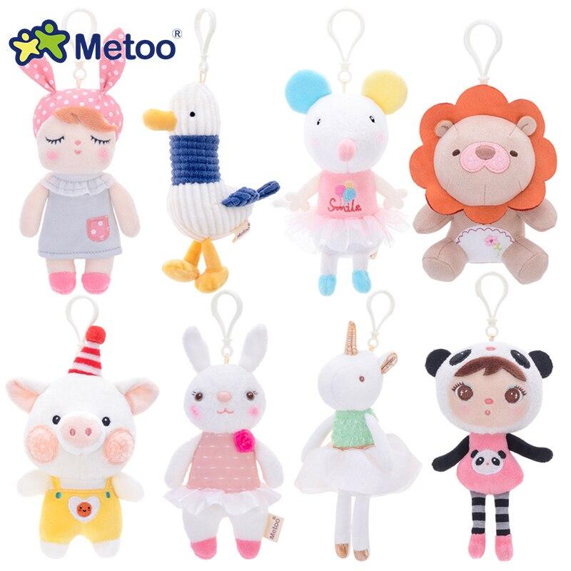 Кукла Metoo, мягкие игрушки для девочек, маленький кулон, милый плюшевый кролик, мягкие Мультяшные животные для детей, Рождественский подарок на день рождения