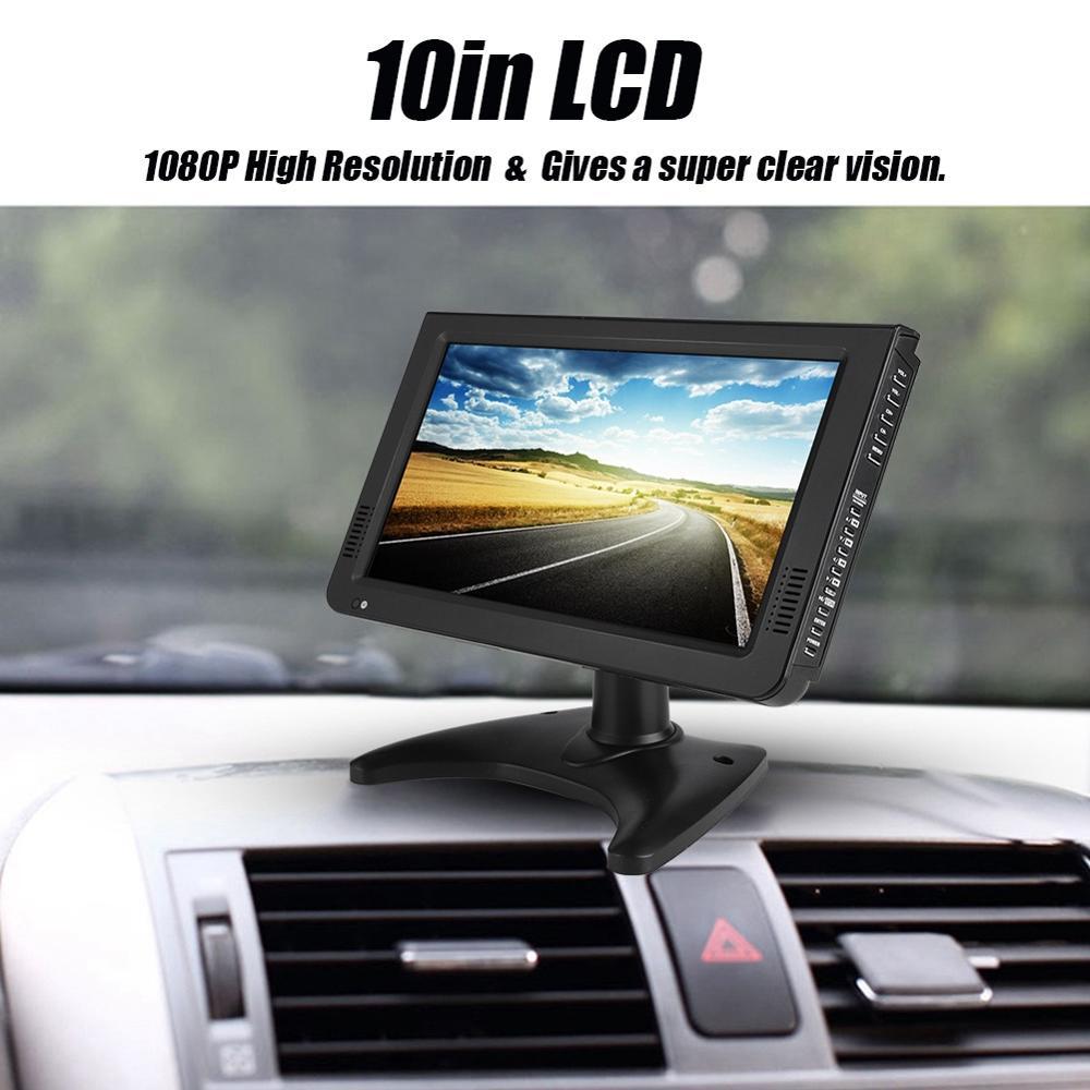 LEADSTAR 10in pantalla DVB-T2 169 1080P coche Digital estéreo para TV que rodea la TV portátil