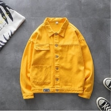 Women Clothing Denim Jacket Women Autumn  Turn-down Collar Single Breasted Solid Loose Casual Jeans