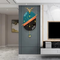 light luxury clock wall clock living room atmosphere home fashion nordic personality decoration simple modern wall clock