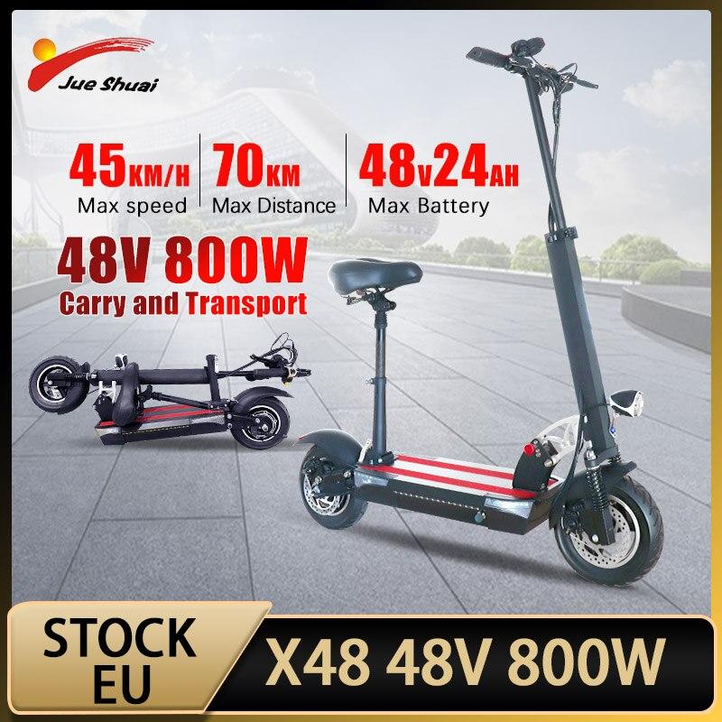 Patinete eléctrico plegable para adultos, Scooter de 48V y 800W, 70KM de...