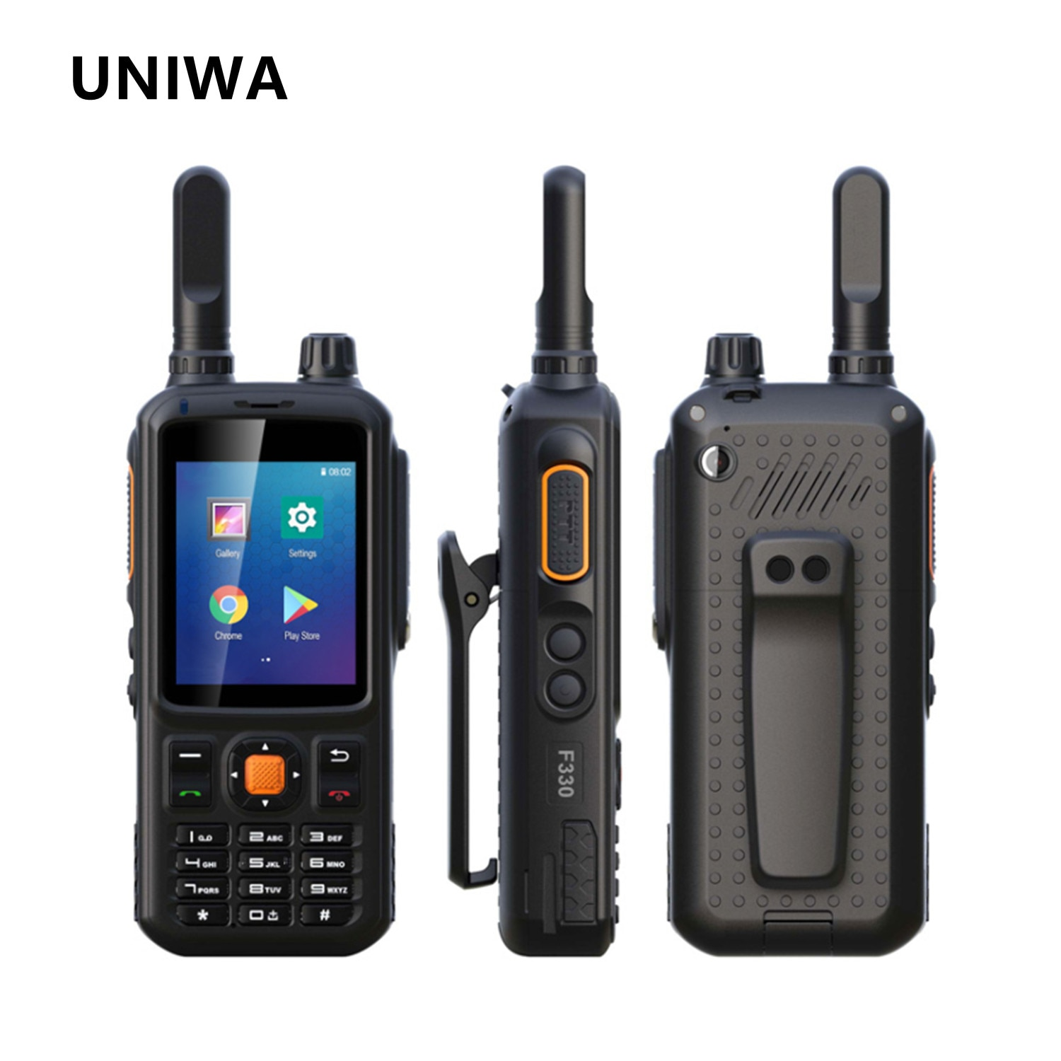 UNIWA F330 Zello Walkie Talkie Mobile Phone 1GB 8GB 3500mAh 2.4'' Touch Screen Quad Core Android 7.0 4G Smartphone Support NFC