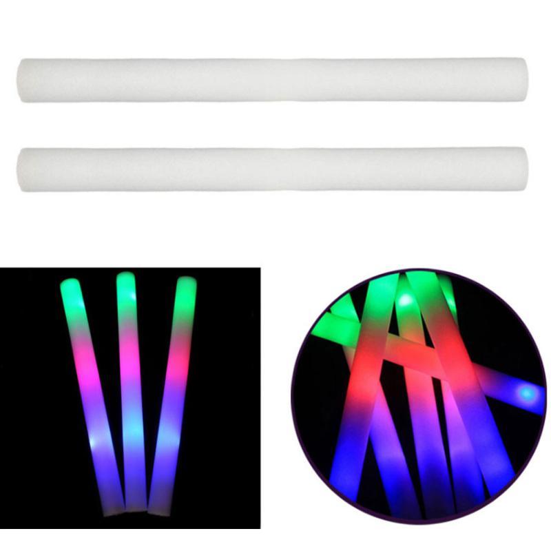Светодиодные светящиеся палочки из пены, светящиеся губчатые палочки, светящиеся светодиодные праздничные палочки R7M9