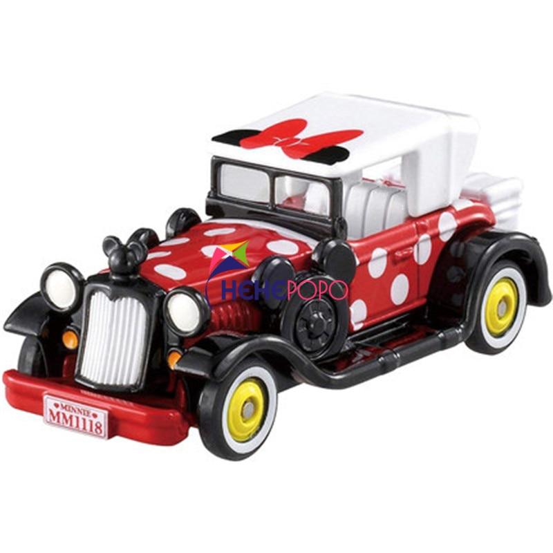 Tomica Alloy Car Model Cartoon Dream Star Classic Minnie DM-11 115656 Miniature Diecast Metal Model Kit Kid Toys Collectibles