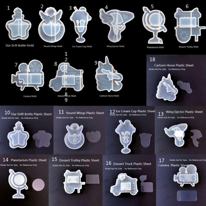 Neue Handgemachte Quicksand Anhänger Eis Stern Drift Flasche Kamera Dessert Epoxy Harz Silikon Form Schmuck Machen Werkzeuge