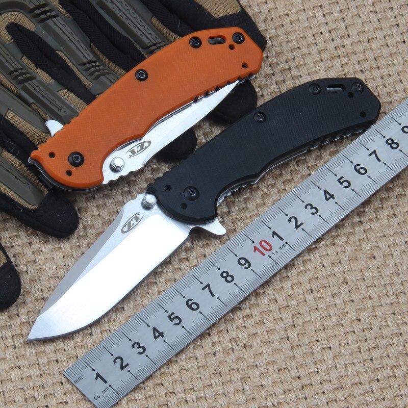 Фото Новое поступление ZT0566 Складной Карманный Походный нож D2 лезвие G10 рукоятка Охота