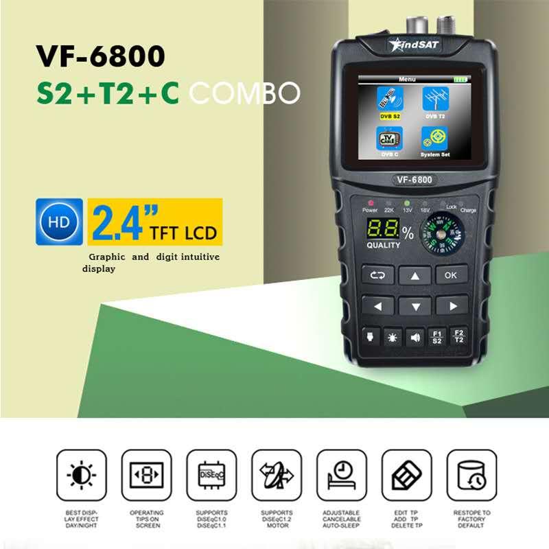 Satellite Finder Meter Dvb-t2/DVB-S2/DVB-C Combo Sat Finder