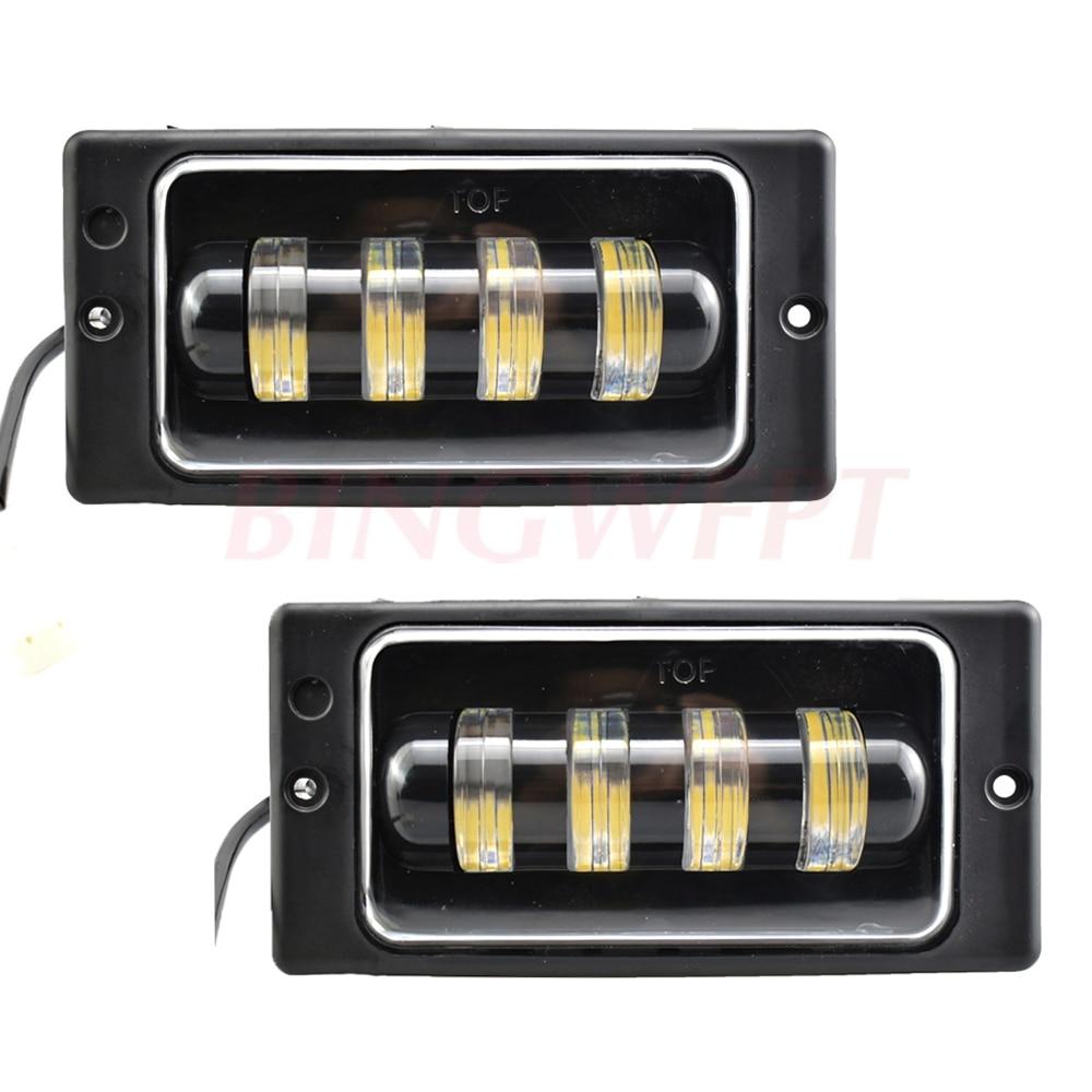 2PCS High qulity Cars front fog Lamp Waterproof 6000K Led Fog Lights fog Passing Light for Lada 2110 -2117