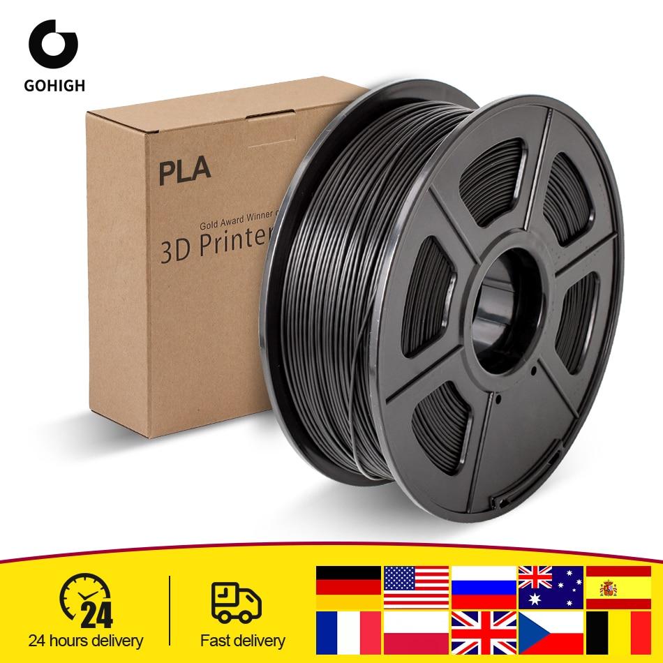 GOHIGH PLA Filament 1.75mm 1KG/Roll 2.2 LBS Spool Plastic 3D Printer Materials Non-toxic For 3D Printer Refills Consumables