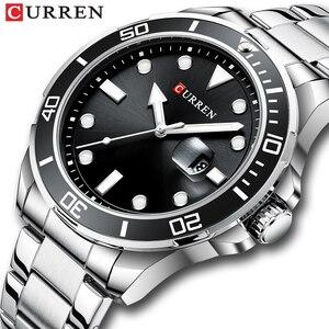 2020 New Curren Watches Men Top Brand Luxury Business Wristwatch Fashion Stainless Steel Waterproof Quartz Watch Male Clock
