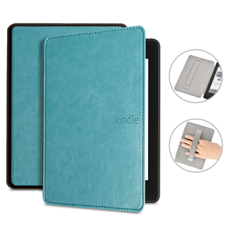 Luxury Leather Cover for Amazon Kindle Paperwhite 4 , Case for PQ94WIF Funda Kindle Paperwhite 2018 +Handstrap gift Film+pen недорого