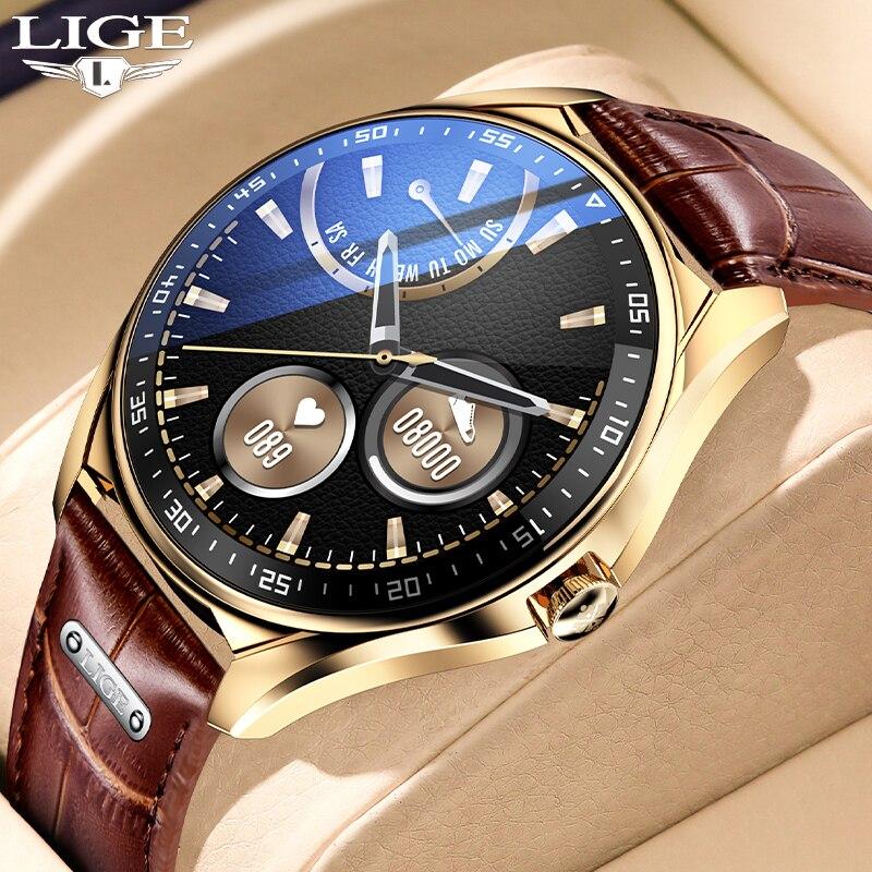2021 LIGE Smart Watch Men Heart Rate Blood Pressure Monitor Sports Fitness Luxury Watch Bluetooth Ca