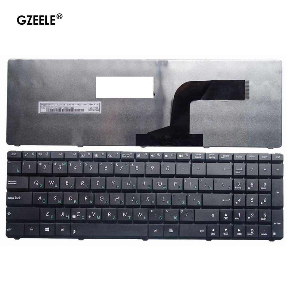 Клавиатура для ноутбука GZEELE, новая черная клавиатура для ASUS N70SV N71V X54 X54Hr X54Hy X54L X54C X54X N61V N61D N61DA N61W N61J N61Jv RU