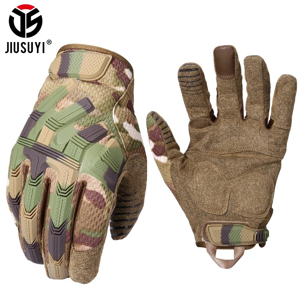 Tactical Army Full Finger Gloves Touch Screen Military Paintball Airsoft Combat Rubber Protective Glove Anti-skid Men Women New multicam tactical military full finger gloves army paintball airsoft combat touch screen rubber protective glove men women new