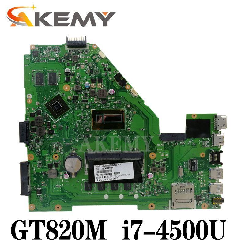 X550LD اللوحة ل Asus X550LD X550LC A550L Y581L W518L X550LN laptop Mainboard الأصلي GT820M I7-4500U 4GB RAM