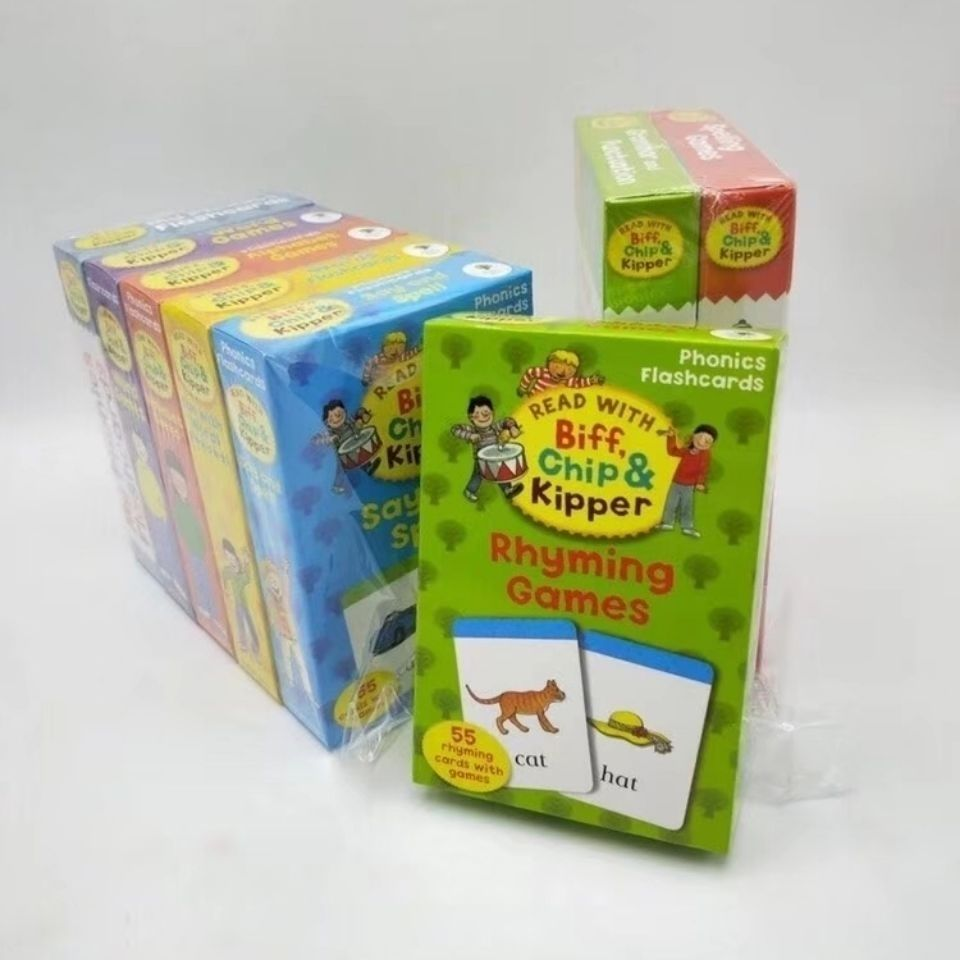 8 boxs Oxford Reading Tree Phonics flashcards Alphabet games Grammar and Punctuation word spelling Rhyming games Cards