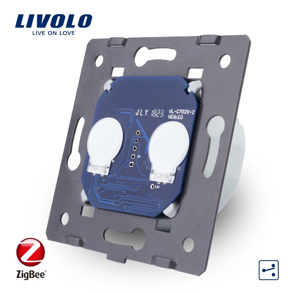 Livolo EU Standard ZigBee Switch,Base of Touch Screen Wall Light Smart Switch, Without The Glass Panel , AC 220~250V,VL-C702SZ