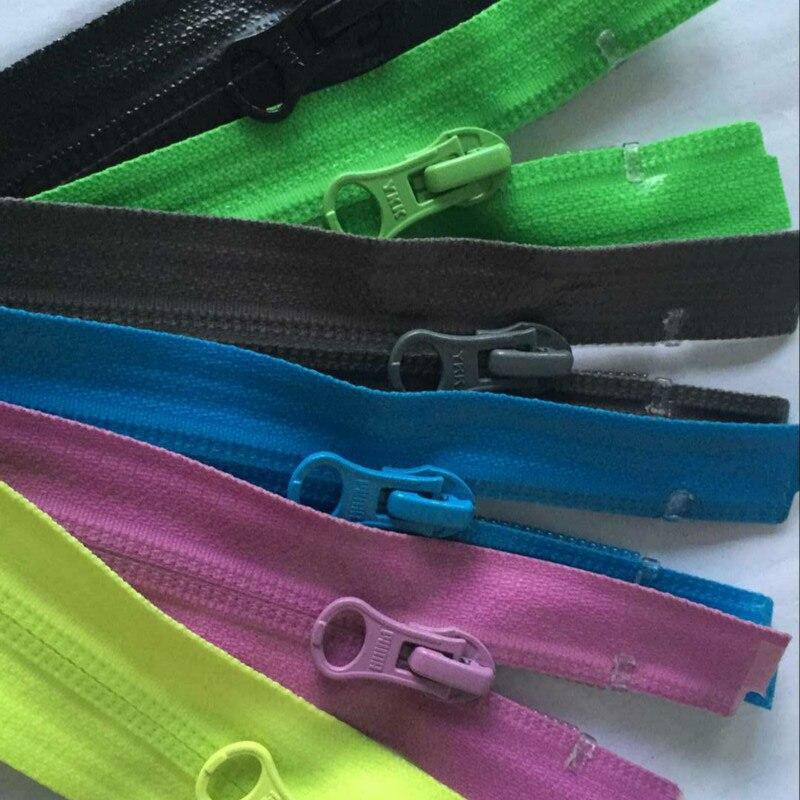 2 pçs/lote mais frete grátis longo ykk zíper impermeável zíperes de extremidade aberta para jaquetas esqui acessórios costura