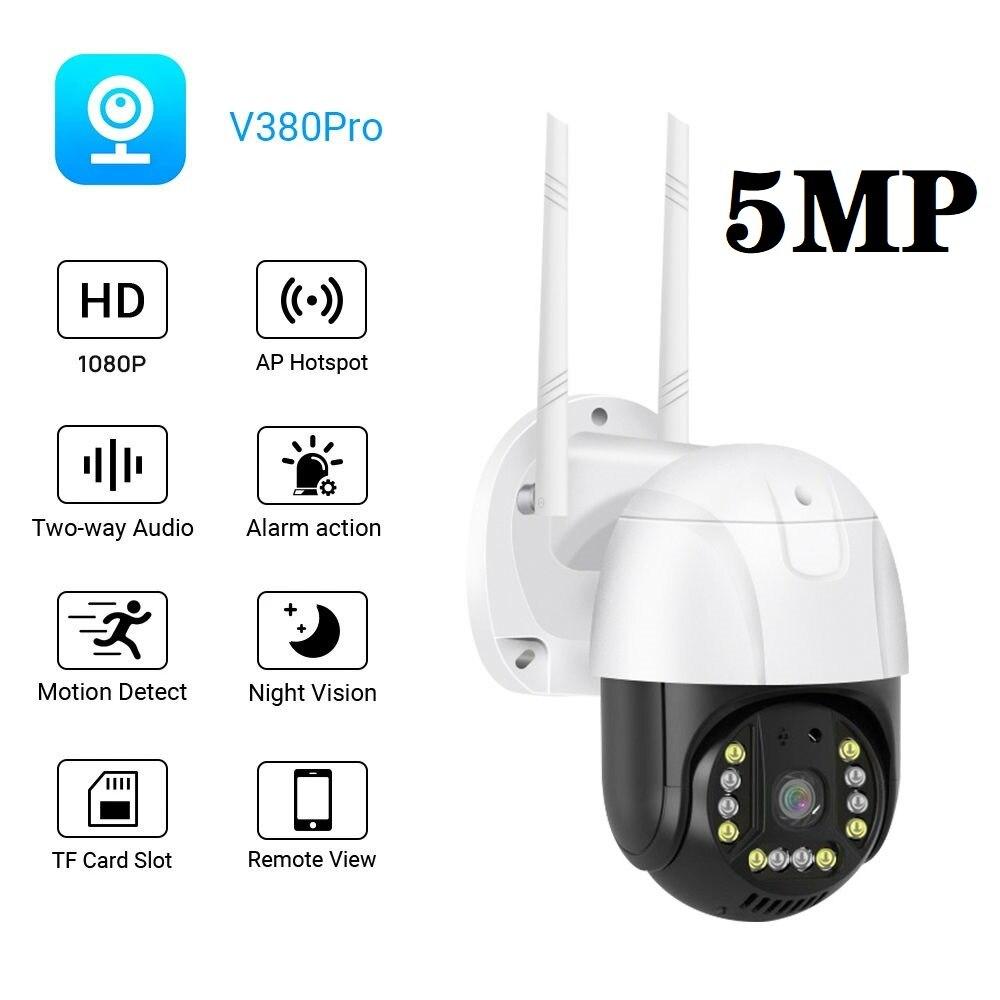 Купольная камера видеонаблюдения, домашняя беспроводная PTZ-камера с автоматическим слежением, Wi-Fi, 4 мм, ONVIF, 3 Мп, 5 МП, IP, H.265, Двухсторонняя ауд...