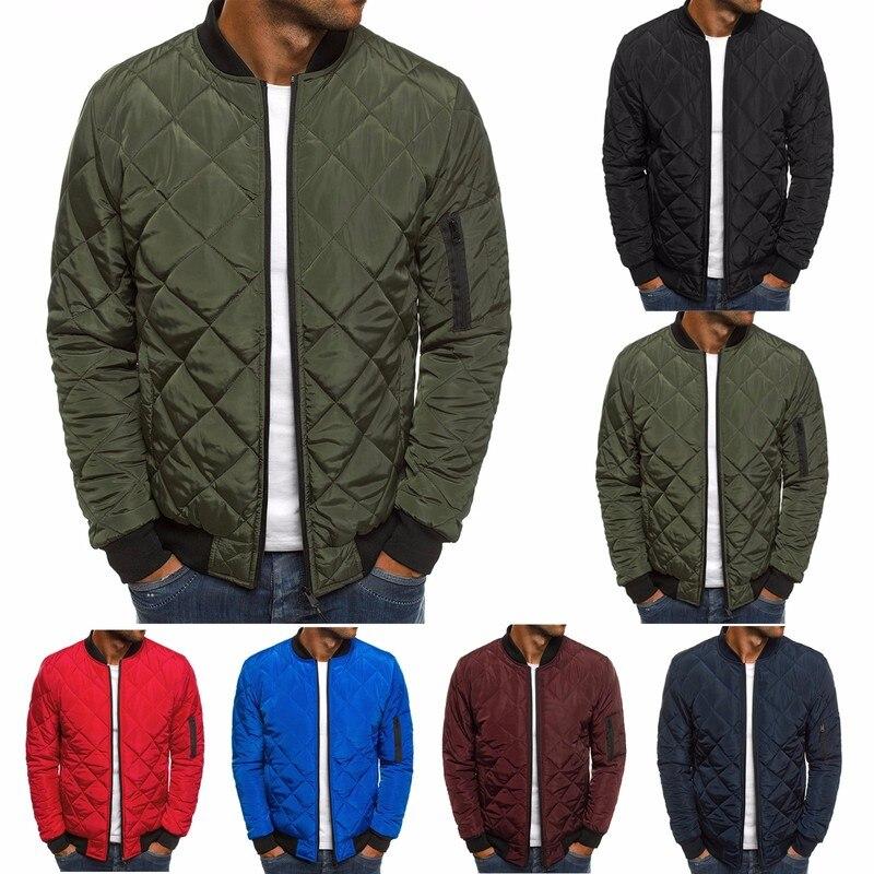 Zogaa casacos masculinos 2020 moda quente casual zíper xadrez jaquetas masculinas primavera sólida outono jaqueta streetwear plus S-3XL