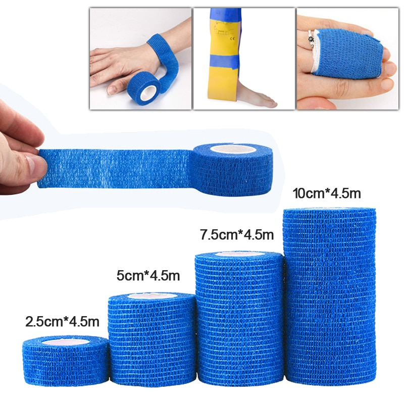 Waterproof Self-Adhesive Elastic Bandage Treatment Gauze Wrap Emergency Muscle Tape First Aid Tool f