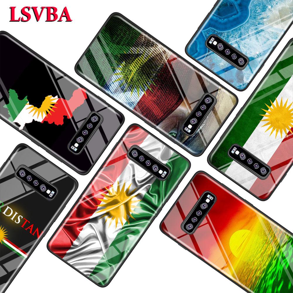 kurdistan flag for Samsung Galaxy Note 10 9 8 Pro S10e S10 5G S9 S8 S7 Plus Super Bright Glossy Phone Case Cover