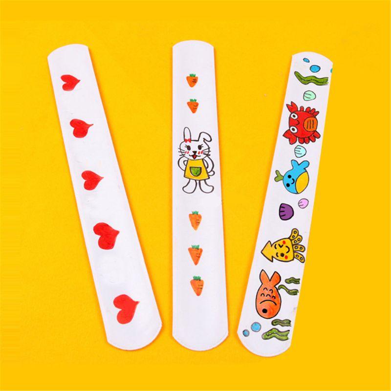 2021 Nieuwe 12 Pcs Diy Blank Slap Armbanden Party Gunsten Pasen Cadeaus Voor Kids Art Craft