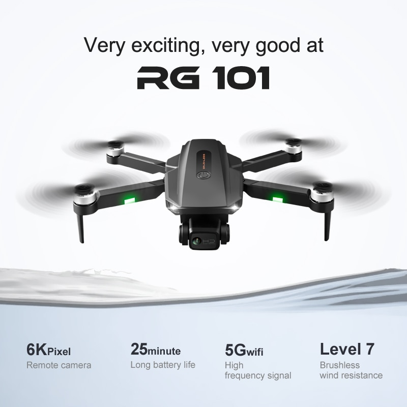 New RG101 GPS 6K Drone Dual HD Anti-Shake Gimbal Brushless Quadcopter 5G WIFI FPV Professional Aerial Photography RC Helicopter enlarge