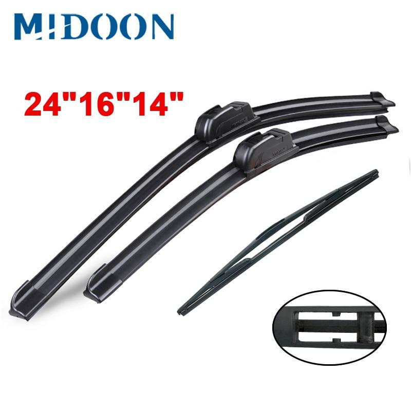"MIDOON стеклоочистители передние и задние щетки стеклоочистителя набор для Nissan X-Trail T31 2007-2013 лобовое стекло 24 ""16"" 14"""