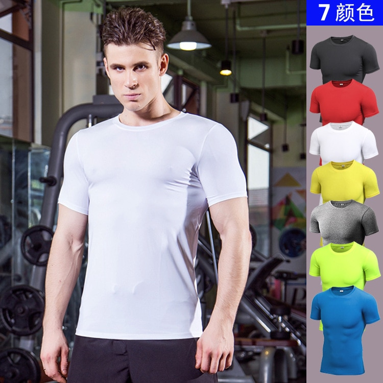 Camiseta deportiva de secado rápido para hombre, Running, Fitness, apretada, camiseta de fútbol, baloncesto, gimnasio, ropa deportiva Demix, camiseta de compresión