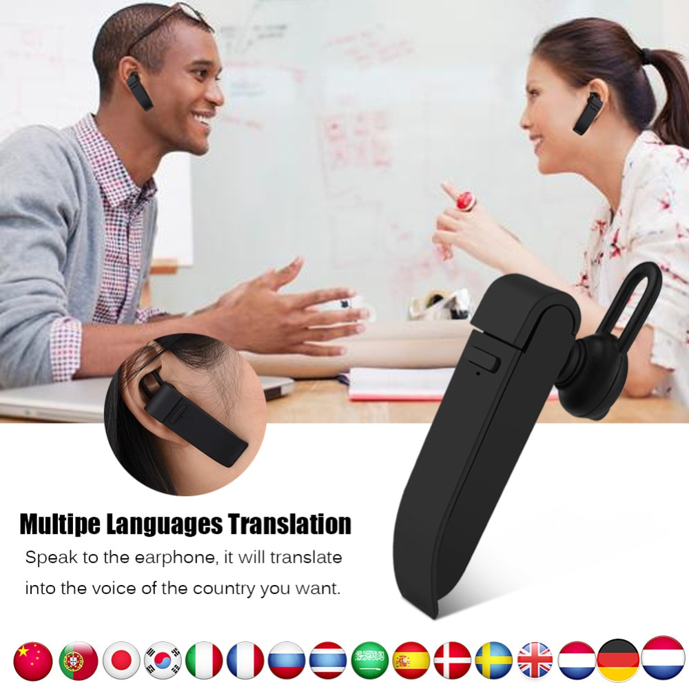 Traductor instantáneo multilingüe, traductor de voz, auricular inalámbrico bluetooth, auriculares, traductor simultaneo, idioma ruso