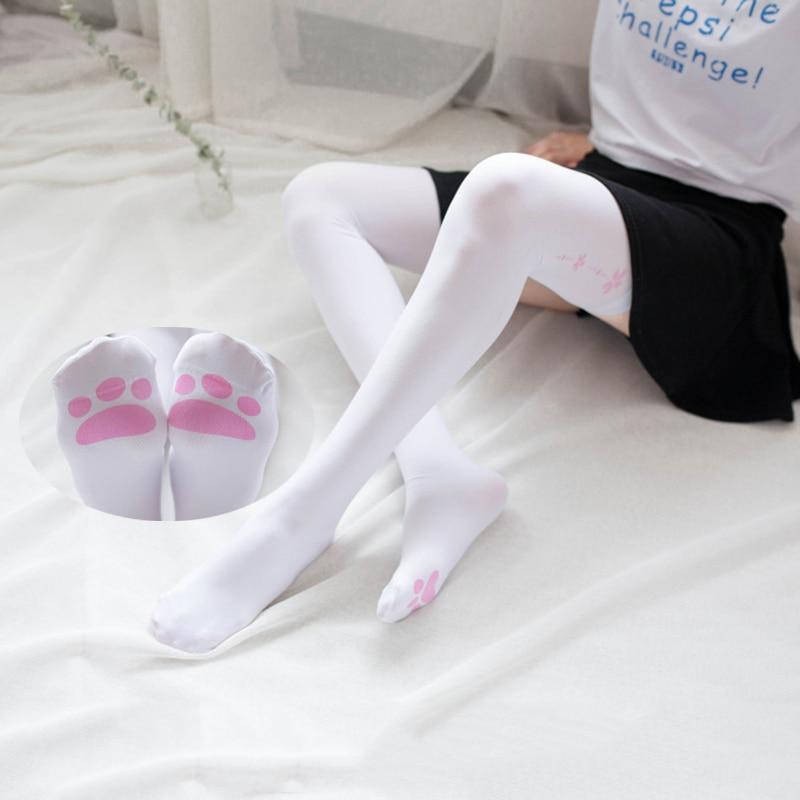 Cat Claw Socks Neko Atsume Tights Cosplay Costume Anime Stocking Lolita Knee Socks Cute Pantyhose Cartoon Pantyhose Cosplay Prop