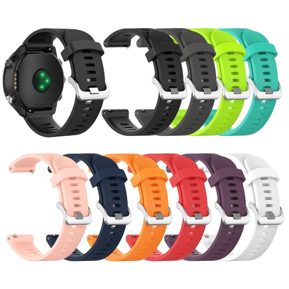 Replacement 20mm Silicone Adjustable Watch Band Strap for Garmin Forerunners 645 Wearable Devices Smart Accessories