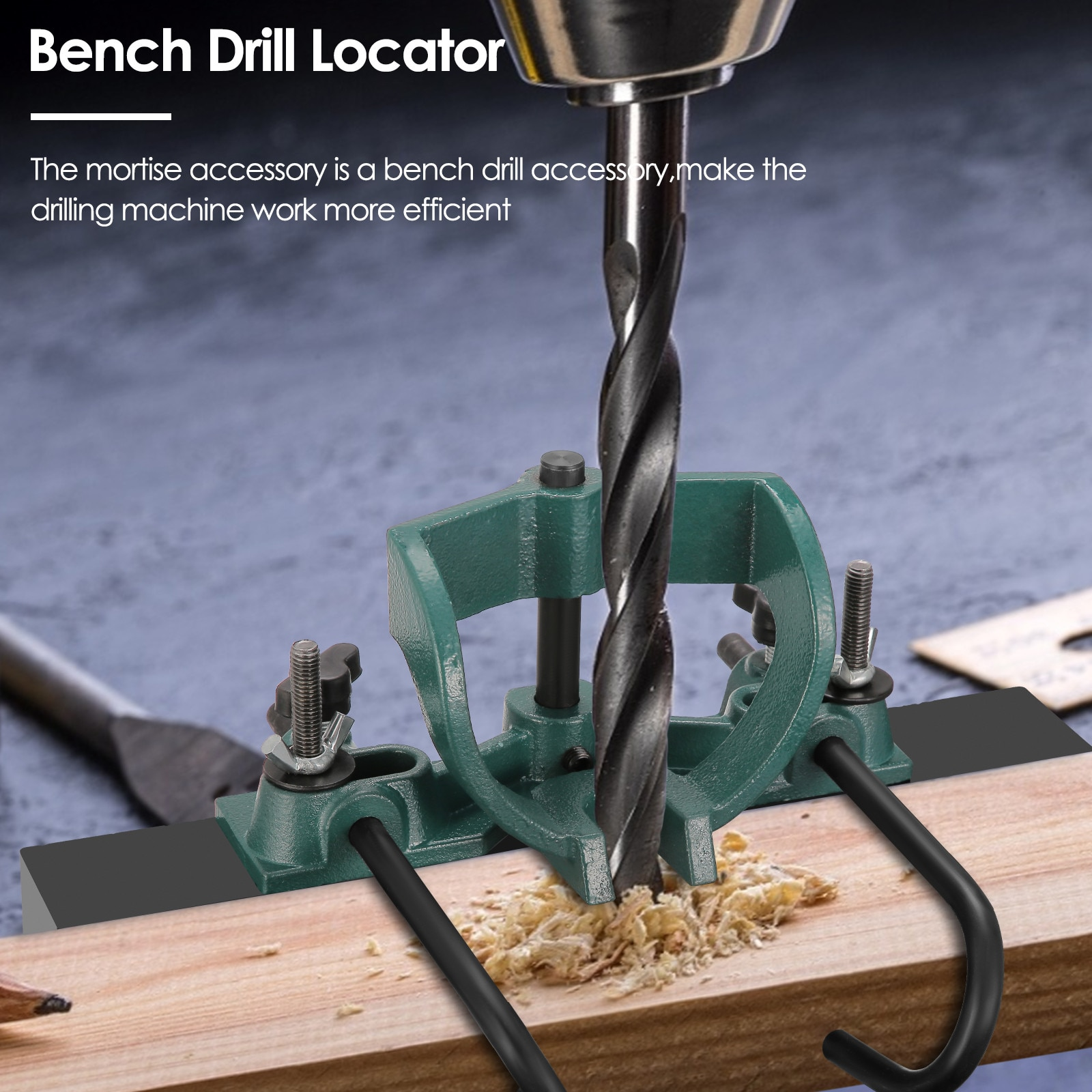 Bench Drill Locator Mortise And Tenon Tools Drill Press Mortise Accessories 1/4 5/16 3/8 And 1/2 Inch Drill Bits enlarge