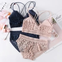 panty sets female brassiere embroidery lingerie underpants