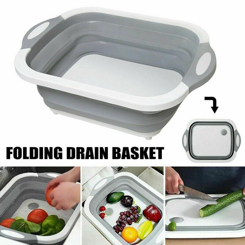 Popular Multifunctional cutting board portable folding sink kitchen sink supplies