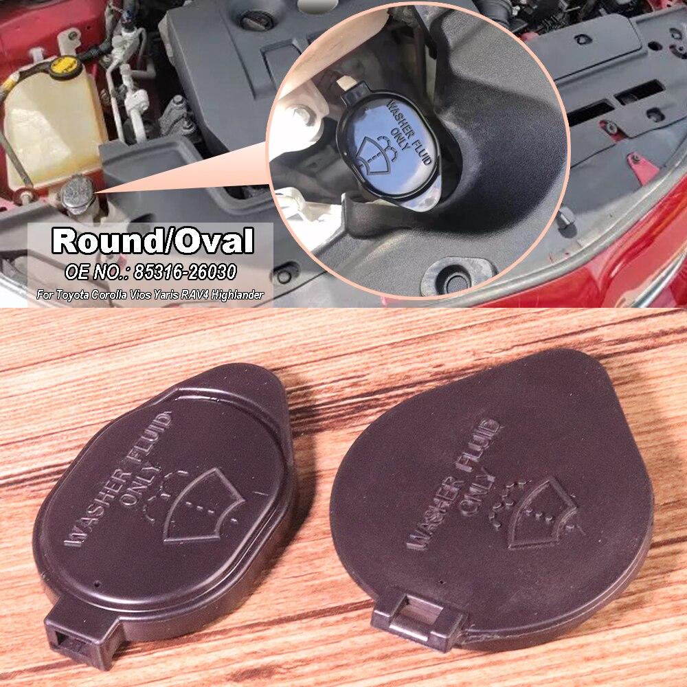 1x Windscreen Windshield Wiper Washer Bottle Cap Cover Fit For Toyota Corolla Vios Yaris RAV4 Highlander Venza 2016 85316-26030